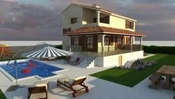 Ny villa med pool, roligt område